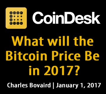 What will the Bitcoin Price Be in 2017?